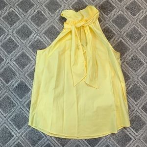 JCrew Yellow Silk Top